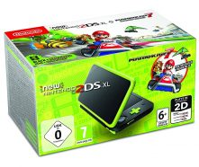 new 2ds xl black green mario kart 7 installed