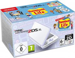 New Nintendo 2DS XL White Levander Tomodachi